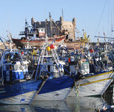 Puerto de Essaouira imagen de archivo