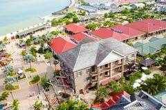 Puerto de Falmouth en la isla de Jamaica, el Caribbeans Foto de archivo libre de regalías