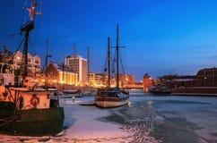 Puerto de Gdansk Imágenes de archivo libres de regalías
