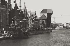 Puerto de Gdansk Foto de archivo libre de regalías