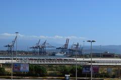 Puerto de Gioia Tauro - cabo Ray Fotografía de archivo libre de regalías