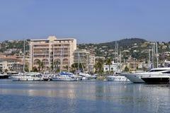 Puerto de Golfe-Juan en Francia fotografía de archivo libre de regalías