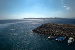 Puerto de Gozo Foto de archivo libre de regalías
