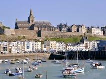 Puerto de Granville en Francia Foto de archivo libre de regalías