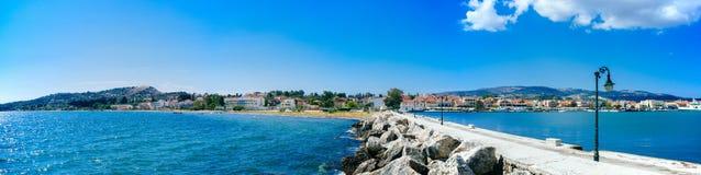 Puerto de Grecia-Kefalonia Lixouri fotografía de archivo