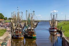 Puerto de Greetsiel Imagenes de archivo