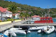 Puerto de Gustavia, St Barths Fotos de archivo libres de regalías