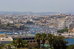 Puerto de Gzira Fotos de archivo libres de regalías