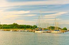 Puerto de Hakodate en Hakodate, Hokkaido, Japón Fotografía de archivo libre de regalías