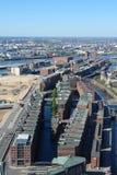 Puerto de Hamburgo fotografía de archivo