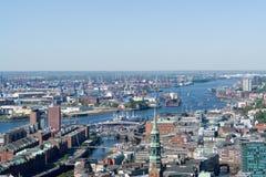 Puerto de Hamburgo Fotos de archivo