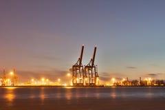Puerto de Hamburgo Fotos de archivo libres de regalías