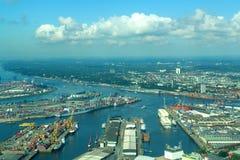Puerto de Hamburgo Foto de archivo libre de regalías