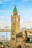Puerto de Hamburgo, Alemania Foto de archivo libre de regalías