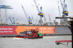 Puerto de Hamburgo en Alemania Imagen de archivo libre de regalías
