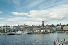 Puerto de Helsingborg Imágenes de archivo libres de regalías