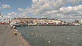 Puerto de Helsinki almacen de metraje de vídeo