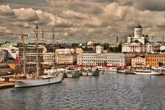 Puerto de Helsinki Imagen de archivo libre de regalías