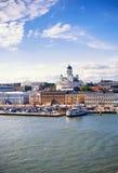 Puerto de Helsinki Foto de archivo libre de regalías