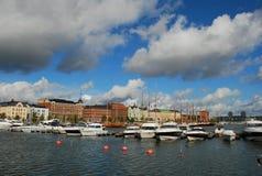 Puerto de Helsinki, Finlandia Foto de archivo libre de regalías