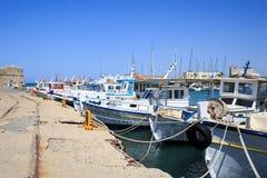 Puerto de Heraklion y puerto veneciano en la isla de Creta, Grecia imagen de archivo libre de regalías