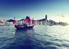 Puerto de Hong-Kong foto de archivo