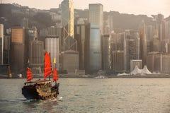 Puerto de Hong-Kong Imagen de archivo libre de regalías