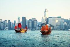 Puerto de Hong-Kong foto de archivo libre de regalías
