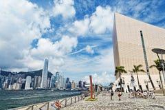 Puerto de Hong Kong en el día foto de archivo libre de regalías