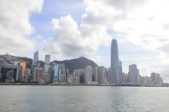 Puerto de Hong Kong en el tiempo 2017 del día Imagen de archivo libre de regalías