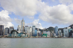 Puerto de Hong Kong en el tiempo 2017 del día Imágenes de archivo libres de regalías