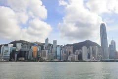 Puerto de Hong Kong en el tiempo 2017 del día Fotos de archivo