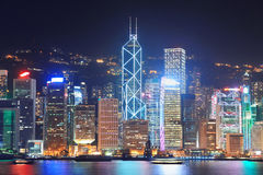 Puerto de Hong-Kong Victoria imágenes de archivo libres de regalías