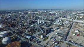 Puerto de Houston Tejas complejo del petróleo almacen de video