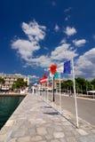Puerto de Itea, ciudad en Grecee Imagen de archivo