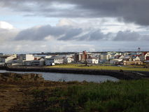 Puerto de Keflavik Fotos de archivo