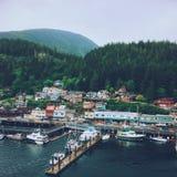 Puerto de Ketchikan en Alaska Imagen de archivo libre de regalías