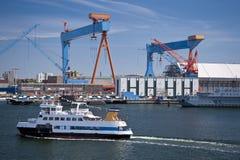 Puerto de Kiel foto de archivo