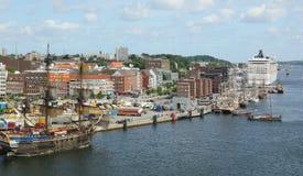 Puerto de Kiel - barco de cruceros MSC Musica - Alemania - Europa Fotografía de archivo libre de regalías