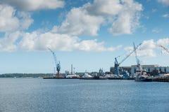 Puerto de Kiel en Alemania Foto de archivo
