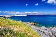 Puerto de Kissamos, Creta, Grecia Imágenes de archivo libres de regalías