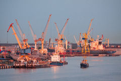 Puerto de Klaipeda Fotografía de archivo libre de regalías