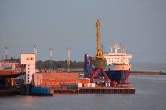 Puerto de Klaipeda Foto de archivo libre de regalías