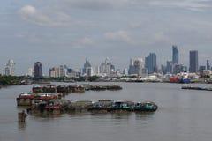 Puerto de Klong Toie de Tailandia imagen de archivo libre de regalías