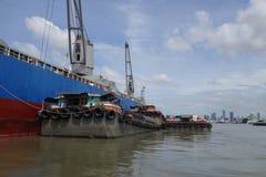 Puerto de Klong Toie de Tailandia imagenes de archivo