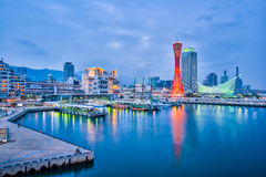 Puerto de Kobe en Japón Fotografía de archivo