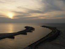 Puerto de Kolobrzeg Imagen de archivo libre de regalías