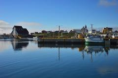 Puerto de la bahía de Bonavista en Terranova imágenes de archivo libres de regalías
