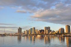Puerto de la bahía de Manila fotografía de archivo