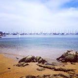 Puerto de la bahía de Monterey Imagen de archivo libre de regalías